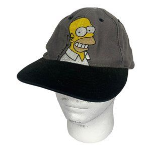 The Simpsons Vintage Hat Mens One Size Grey 1997 Top Heavy Strapback